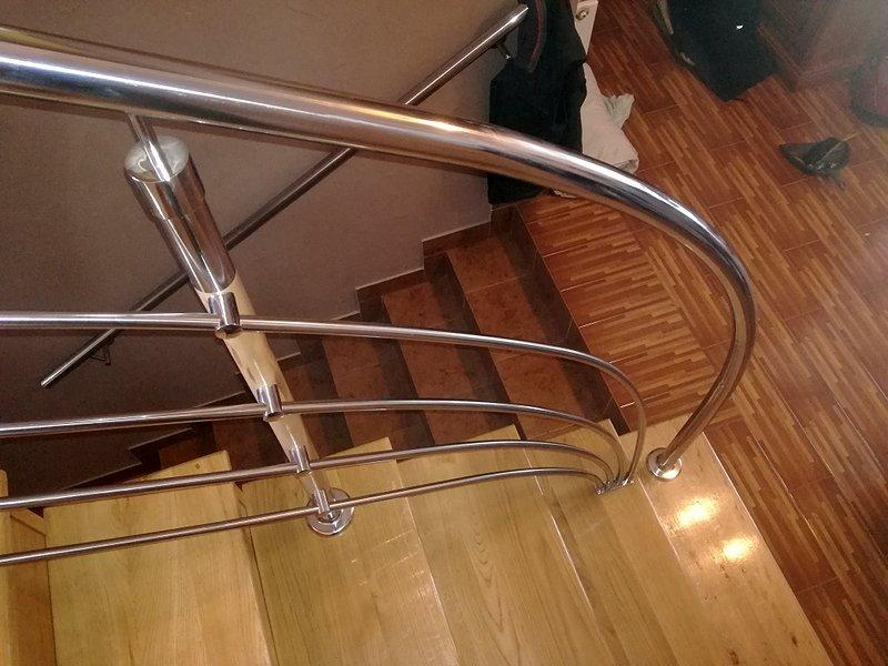 balustrada, poręcz stalowa