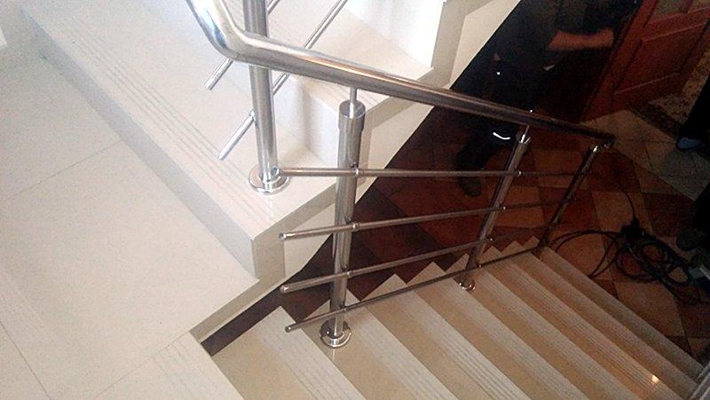 poręcz, balustrada stalowa