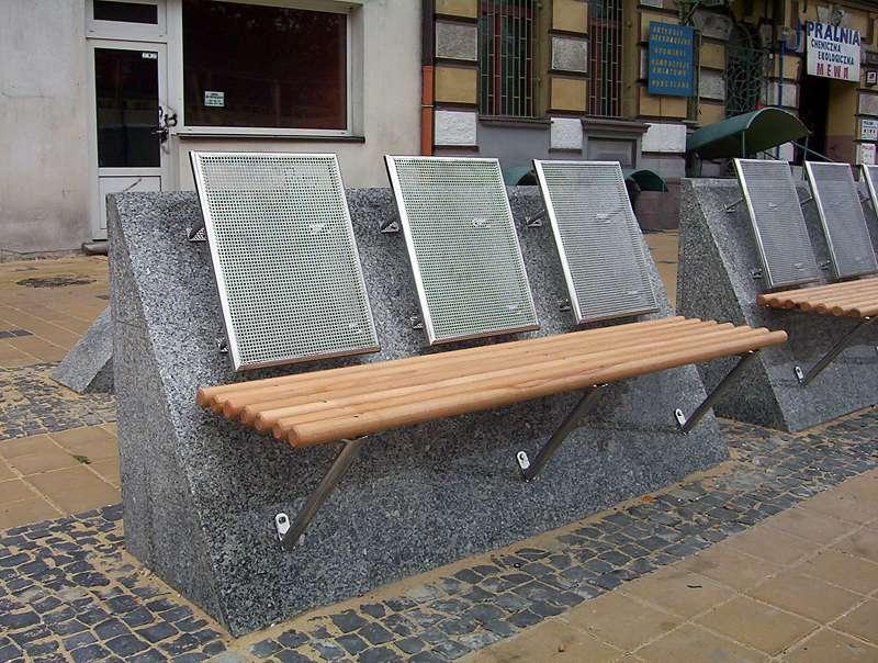 ławki ze stali nierdzewnej